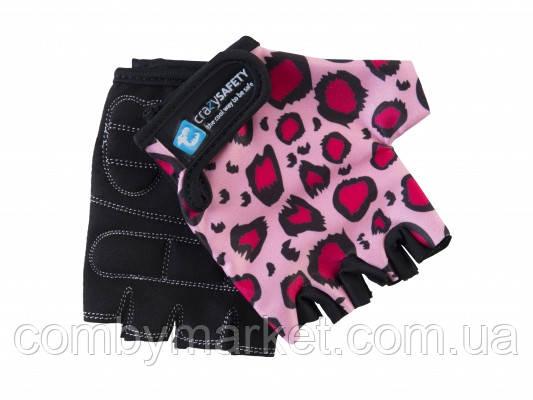 Перчатки детские Crazy Safety Розовый Леопард