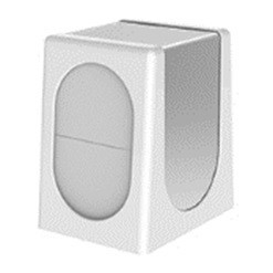 Настольный диспенсер для салфеток  (белый-стальной)