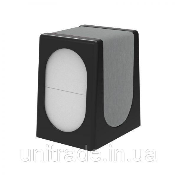 Настольный диспенсер для салфеток  (черный-стальной)