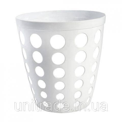 Пластиковая корзина  офисная ( белая )