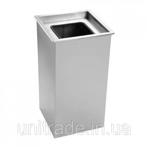 Металлическая  прямоугольная урна  для мусора 50л