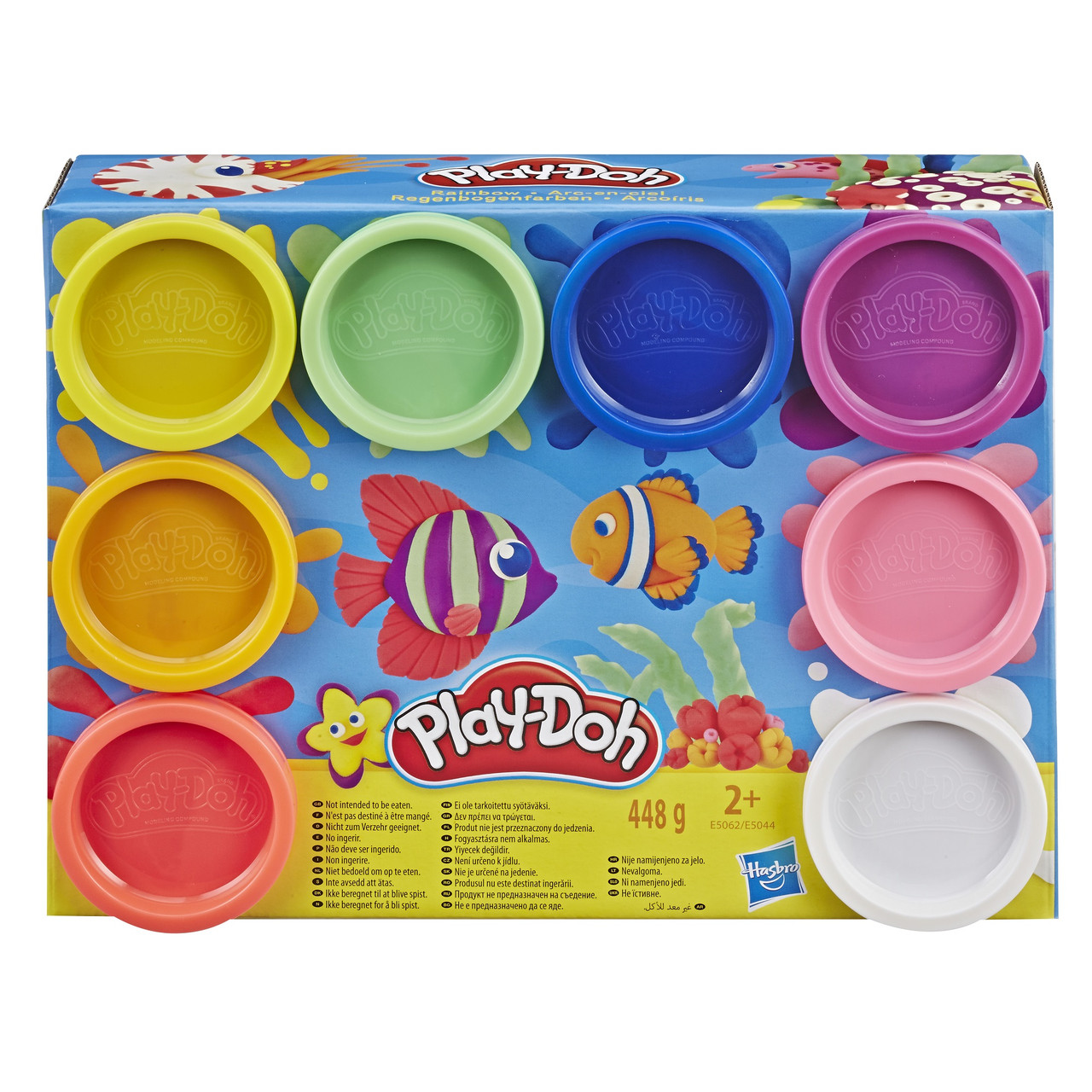 Игровой набор пластилина Play-doh Радуга 8 баночек 448 грамм. Оригинал Hasbro E5062/E5044