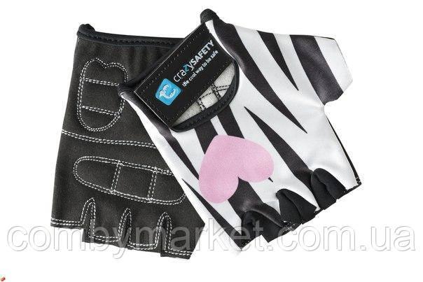 Перчатки детские Crazy Safety Зебра