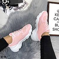 Женские кроссовки весенние, цвет розовый