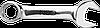Ключ комбинированный, 19 x 134 мм укороченный 09-771 Neo