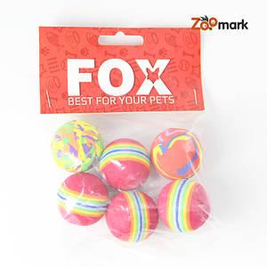 Набор игрушек для кошек 6 цветных шариков