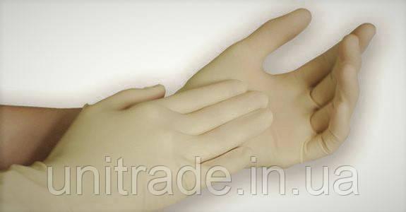 Перчатки латексные  без пудры  «L» ТМ «DEVISAN»