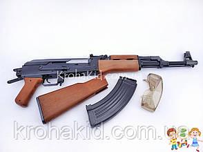 Автомат Калашникова детский (АК-47) металлический ZM 93 с защитными очками и пульками, фото 3