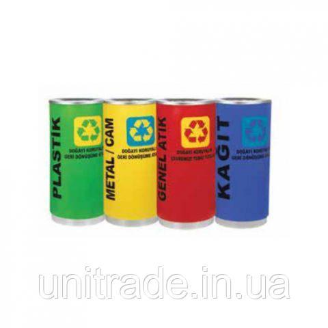 Корзина для мусора  100л (желтый,зеленый,красный,синий)