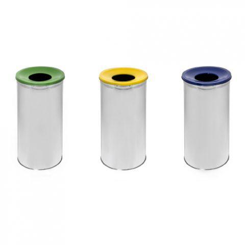 Металлическая урна в трех цветах