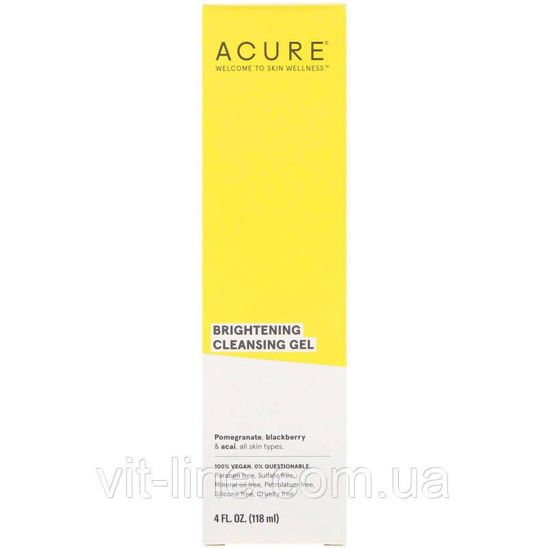 Acure, Очищаючий гель для вмивання, 118 мл