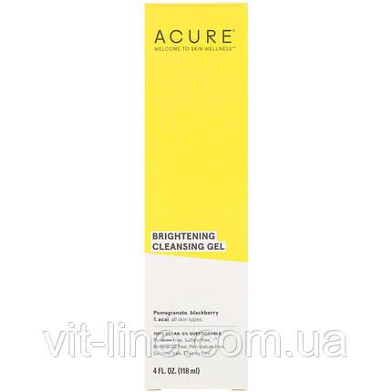 Acure, Очищаючий гель для вмивання, 118 мл, фото 2