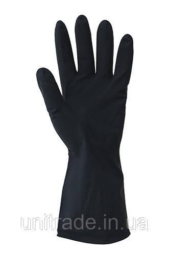 Перчатки  резиновые  сверхпрочные бесшовные , химически стойкие