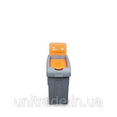 Сортировочная корзина для медицинских  отходов  (маленькая) с крышкой FANTOM