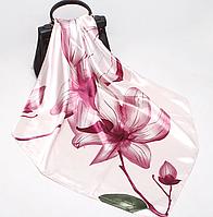 Платок 90х90 Магнолия / Розовый Р-073