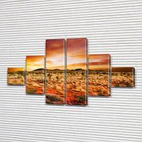 Модульная картина Пустынная долина Прерия на ПВХ ткани, 75x130 см, (20x20-2/45х20-2/75x20-2), из 6 частей, фото 1