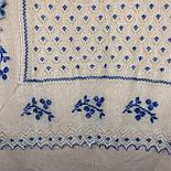 """Шаль вышитая """"""""Гжель"""""""" Ш-00051, белый,синяя вышивка, оренбургский платок (шаль) с вышивкой, фото 4"""