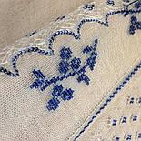 """Шаль вышитая """"""""Гжель"""""""" Ш-00051, белый,синяя вышивка, оренбургский платок (шаль) с вышивкой, фото 6"""