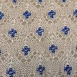 """Шаль вишивана """"""""Гжель"""""""" Ш-00051 , білий,синя вишивка , оренбурзький хустку (шаль) з вишивкою, фото 5"""