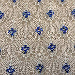 """Шаль вышитая """"""""Гжель"""""""" Ш-00051, белый,синяя вышивка, оренбургский платок (шаль) с вышивкой, фото 5"""