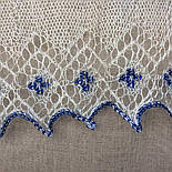 """Шаль вишивана """"""""Гжель"""""""" Ш-00051 , білий,синя вишивка , оренбурзький хустку (шаль) з вишивкою, фото 9"""
