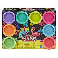 Игровой набор пластилина Play-doh Неон 8 баночек 448 грамм. Оригинал Hasbro E5063/E5044