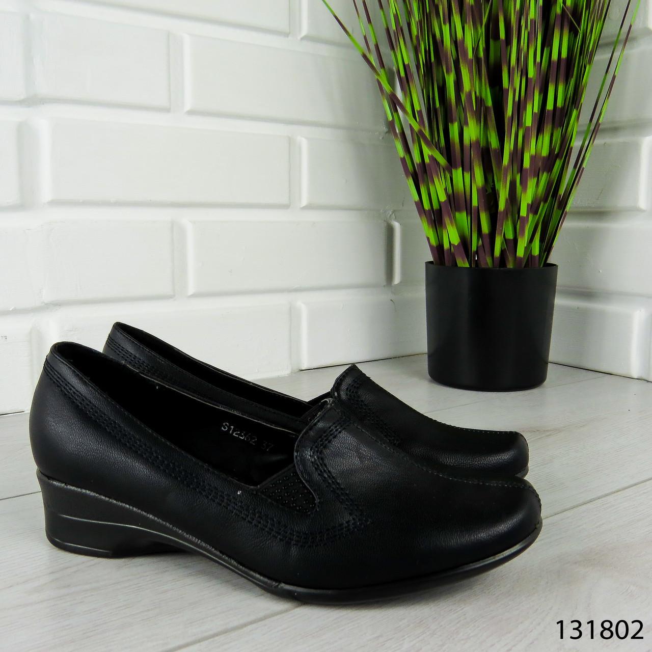 """Туфли женские черные """"Natel"""" эко кожа"""