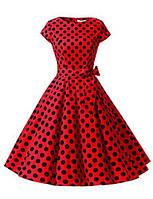 Dressystar Женщины Винтаж 1950-х годов Ретро Рокабилли Платья для выпускного вечера Cap-Рукав