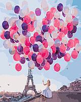 Картина по номерам  Париж в шарах