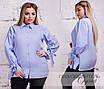 Рубашка на пуговицах коттон 48-50,52-54, фото 3