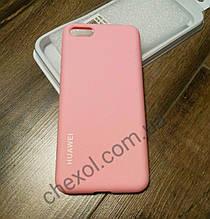 Silicone Cover для Huawei P Smart+/Nova Розовый