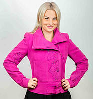 Теплая розовая курточка Albanto