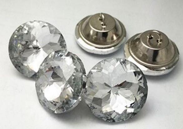 Пуговицы стеклянные для диванов 30 мм (Алмазная роза)