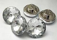 Пуговицы стеклянные для диванов 30 мм (Алмазная роза), фото 1
