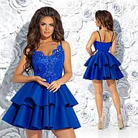e4c450714e4 Нарядное платье на бретельках верх  гипюр+подкладка низ  неопрен Размер  42