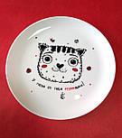 "Дизайнерская тарелка ""Котик У меня от тебя мурашки"", фото 5"