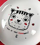 "Дизайнерская тарелка ""Котик У меня от тебя мурашки"", фото 4"