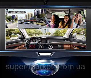 "Car DVR A66- Vehicle Black Box HD 360 зеркало с панорамной камерой и сенсорным экраном 5"""