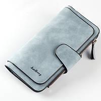 Женское вместительное портмоне-кошелёк Baellerry голубого цвета, фото 1
