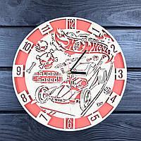 Оригинальные настенные часы из дерева «Hot Wheels», фото 1
