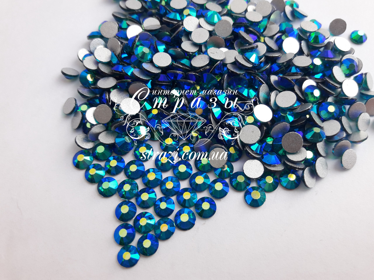 Стразы ss20 Blue Zircon AB, 1440шт. (4,6-4,8мм)
