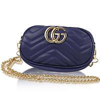 Женская сумка на пояс в стиле Gucci / Бананка / Сумка через плечо