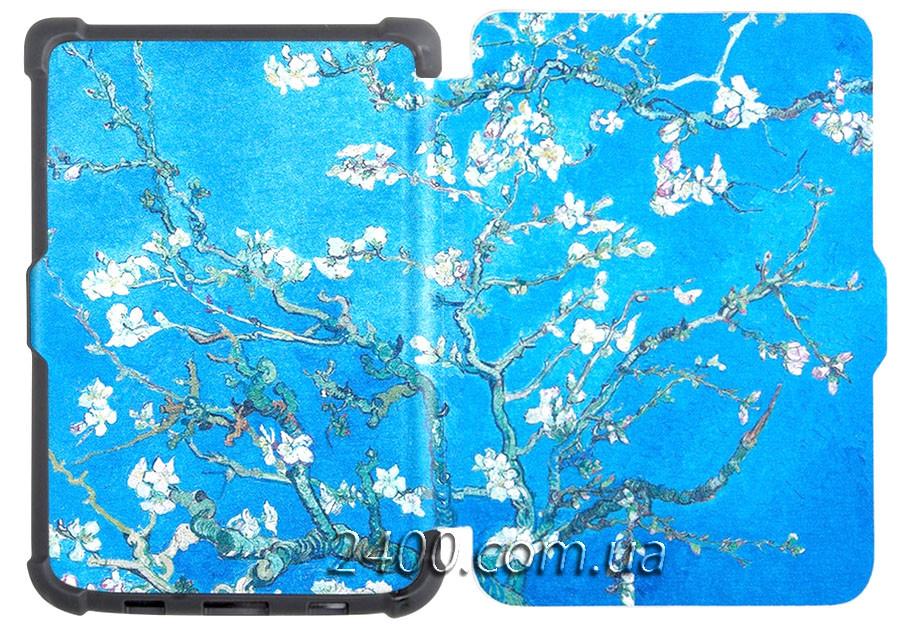 Обложка - чехол для PocketBook 627 Touch Lux 4 электронной книги с графикой Almond Blossoms