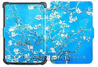 Обложка - чехол для PocketBook 627 Touch Lux 4 электронной книги с графикой Almond Blossoms, фото 1