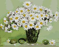 Картина по номерам  Натюрморт с ромашками
