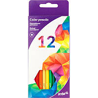 Цветные карандаши kite k17-051-3 Геометрия 12 штук