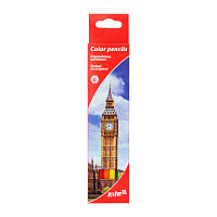 Цветные карандаши для школы kite k17-050-2 Города 6 штук