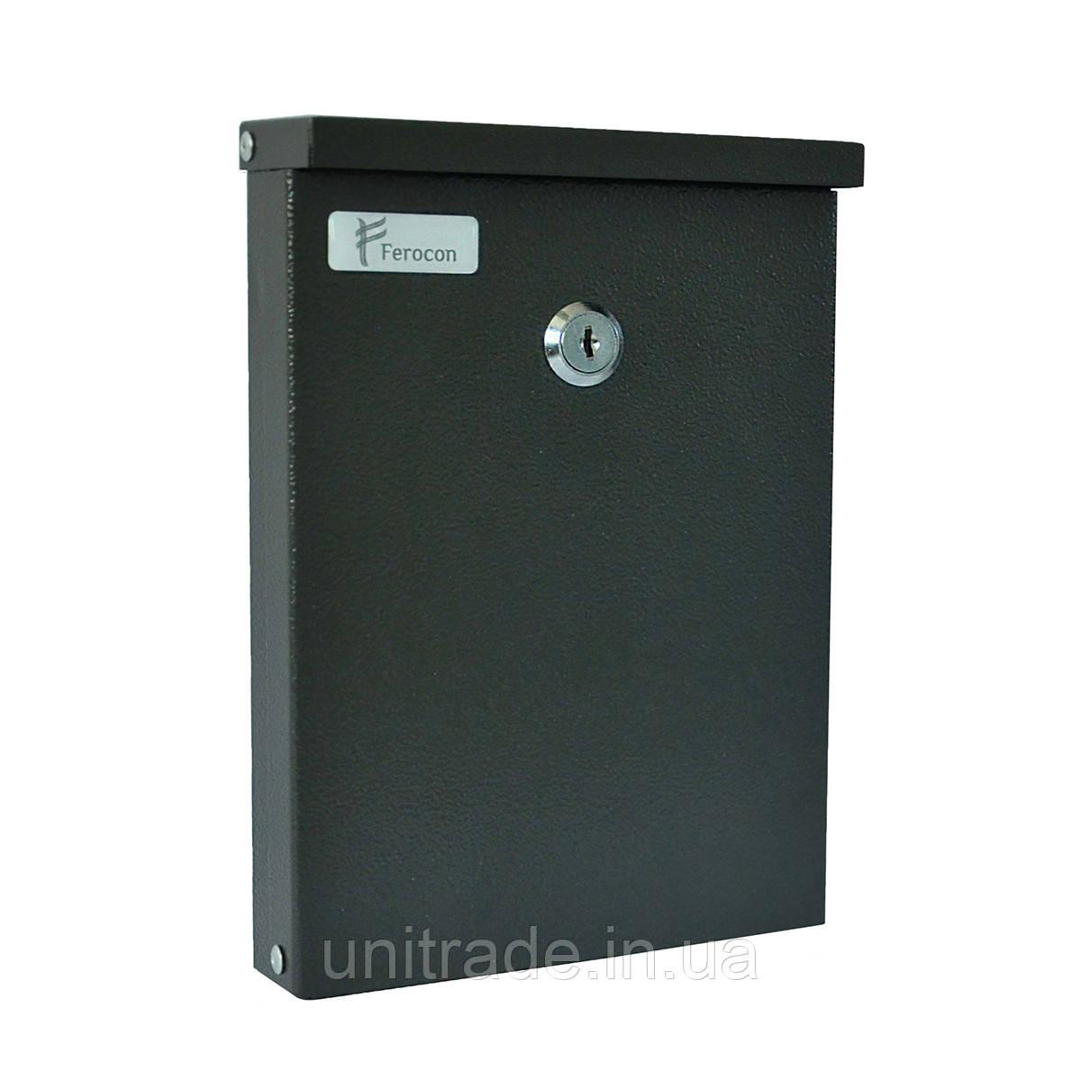 Ящик почтовый РВ-07 Ferocon, 16,7х23,3х3,6 см. серый