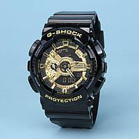 Годинник водонепроникний 20 BAR Casio G-Shock GA-110 Black Gold. Репліка Premium якості!, фото 1