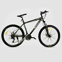 """Велосипед Спортивный CORSO EXTREME 26""""дюймов JYT 005 - 9309 GREEN  рама алюминиевая 17``, 21 скорость, собран на 75%  (ОПТОМ)"""